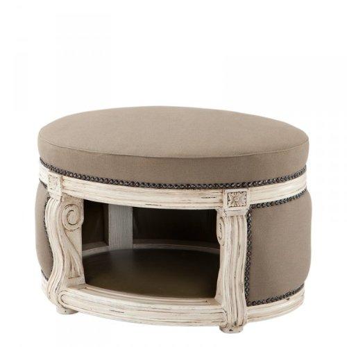 Casa Padrino Barock Hunde & Katzen Haus Luxury Mod2 Sandfarben/Antik Weiß