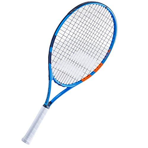 Tennis Raquetas para niños profesionales de aleación de aluminio para interiores y exteriores, con asas que absorben los golpes (color: azul, tamaño: 53,3 cm)