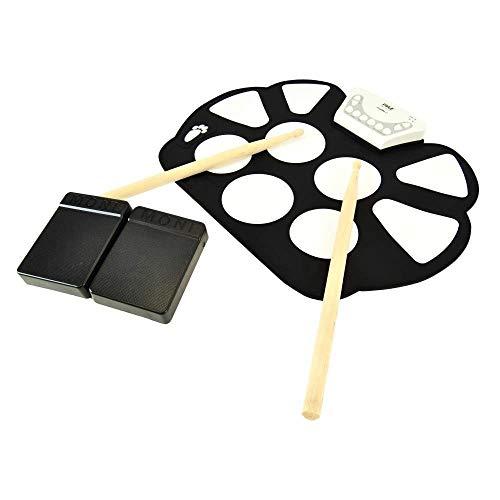 Schlagzeug Elektronische Elektronische Rollen UpDrum Kit 9 E-Drum Pads Fußpedale Stromversorgung Tabletop Roll Up Drum Kit Family Entertainment FDWFN