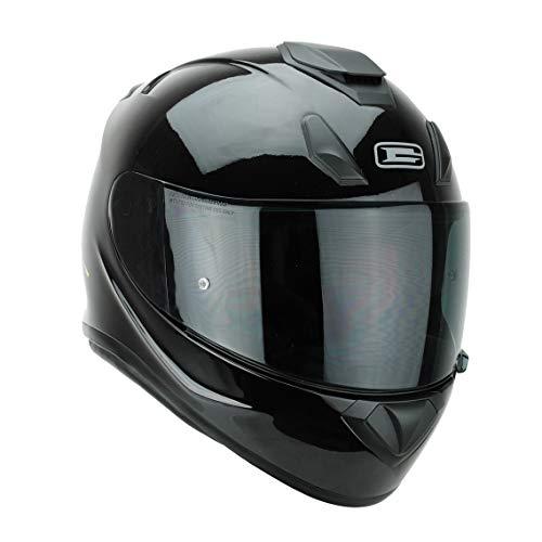 G-Mac Roar Evo Blackout Full Face Fibreglass Motorcycle Helmet + FREE Dark...