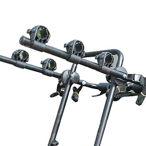 Turtle Story Jxnb portabicicletas – Pequeño plegable fácil de ajustar escala de precisión Ajustador de bicicleta Tailstock suspensión trasera marco portabicicletas portador de coche – Negro Jxnb