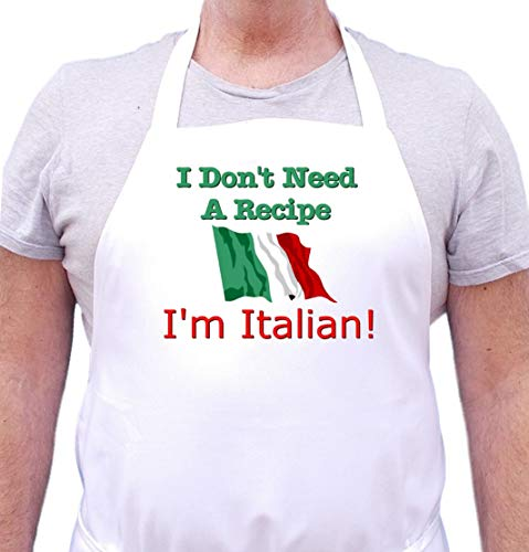 I Don't Need A Recipe - I'm Italian Apron Cute Chef Aprons