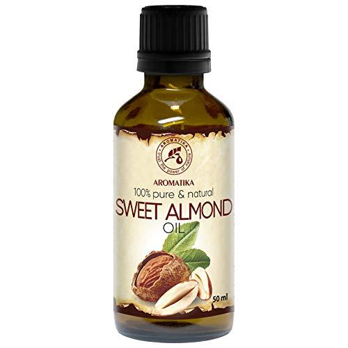 Huile Amande Douce 50ml - Prunus Amygdalus Dulcis Oil - Italie - Pressée à Froid - 100% Pur - Soins Intensifs pour le Visage - Corps - Cheveux - Peau - Massage - Sweet Almond Oil