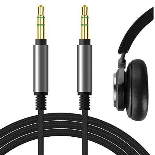 Geekria Apollo Upgrade Audio Cable for Bowers & Wilkins PX7, PX5, PX, Bang & Olufsen H95, H9i, H8i, H9 3rd Gen, H8 Headphones Cable, 3.5mm AUX Replacement Stereo Cord (Black 5.6FT)