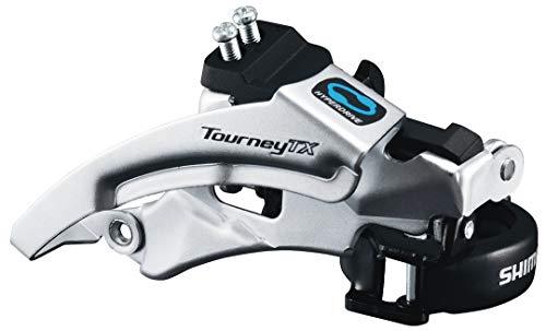 Shimano Tourney FD-TX800-TS3 Umwerfer 7/8-fach Top Swing schwarz/silber Ausführung 66-69° Kettenstrebenwinkel 2016 Mountainbike