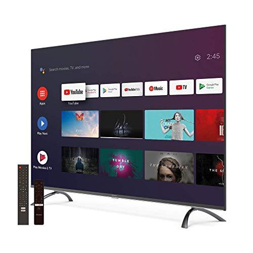 "STRONG SRT50UC7433 50"" (126 cm) Android 4K Ultra HD LED Smart Fernseher mit Triple Tuner (HDTV, HDR 10, WCG, WLAN, Netflix, Google Voice Control, HDMI, USB, EPG, CI+, Hotel Modus, DVB-T/T2/C/S2"