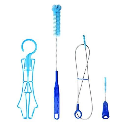 Tagvo Kids kit di pulizia per borraccia, serbatoio d\' acqua 4in 1spazzola di pulizia, piccolo gancio pieghevole per mini serbatoio–Flexible Long Brush–Small Brush–Big Brush