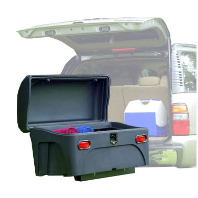 Stowaway Standard Cargo Carrier with SwingAway Frame for 2' Hitch- Black