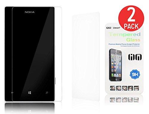Lilware 2 x Tempered Glass Screen Protector Pellicola Protettiva di Vetro Temperato per Nokia Lumia 520. Protezione AntiGraffio dello Schermo Frontale Estremamente Durevole. Trasparente