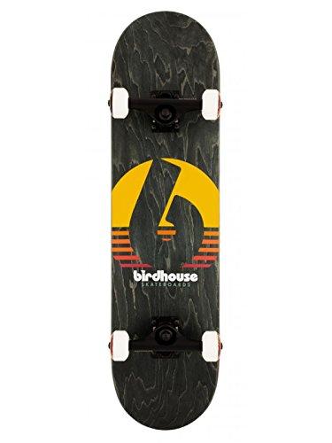 Birdhouse Skateboard Komplett Sunset - 8 inch Schwarz-Gelb-Rot (One Size, Schwarz)