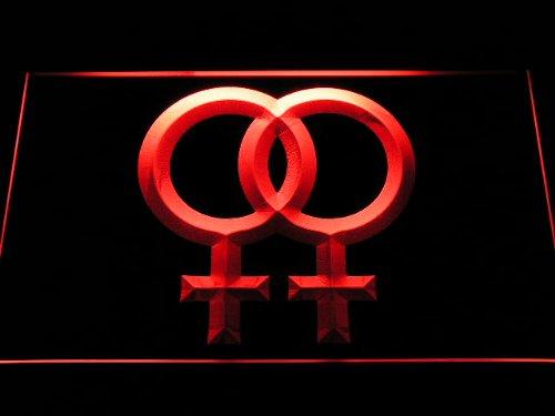 ADV PRO Enseigne Lumineuse i1061-r Proud of Lesbian Girl Girl Link Together Decor Neon Light Sign