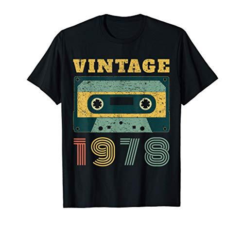40th Birthday Gift Vintage 1978 Year Old Mixtape T-Shirt