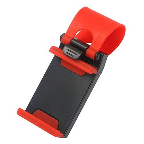 Portátil soporte for teléfono robusto Accesorios de coche universal del montaje del volante del coche del ornamento colgante for niñas Decoración (Color : Red)