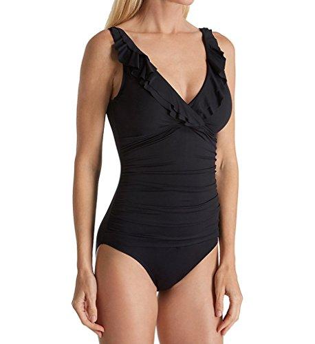 LAUREN RALPH LAUREN Women's Beach Club Slimming Underwire One Piece Swimsuit LR7DB10 4 Black