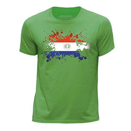 Stuff4® jongens ronde hals T-shirt/paraplu/vlag Splat Edad de 12-14 (152-164cm) Celeste Y Blanco