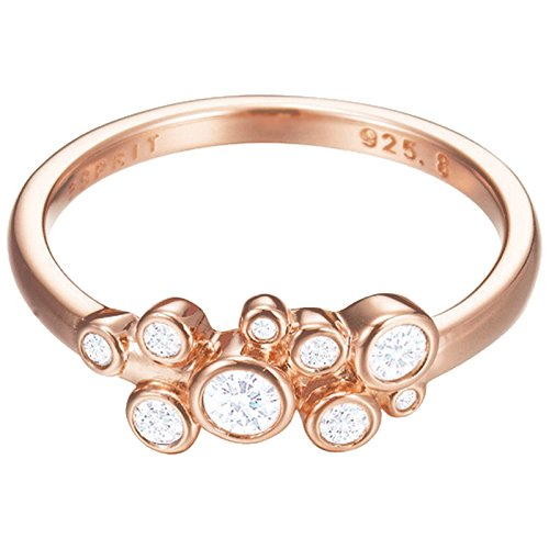 Esprit Essential Damen-Ring ES-SYMPHONY ROSE 925 Silber rhodiniert Zirkonia transparent