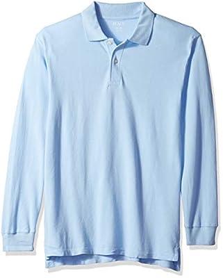 The Children's Place boys Long Sleeve Pique School Uniform Polo Shirt, Brook, M 7 8 US