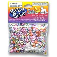 Perles & Co Kit de perline alfabeto e rocailles pastello