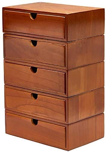 File Cabinets Caja de almacenamiento de escritorio plana de 5 capas de madera, con cajón de almacenamiento, gestor de cajones, para expositor, muebles de oficina en casa (tamaño A1)