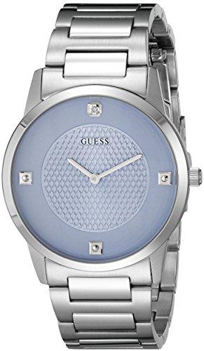 Guess U0428G239mm Plateado Acero Pulsera y Caso Mineral Hombres del Reloj