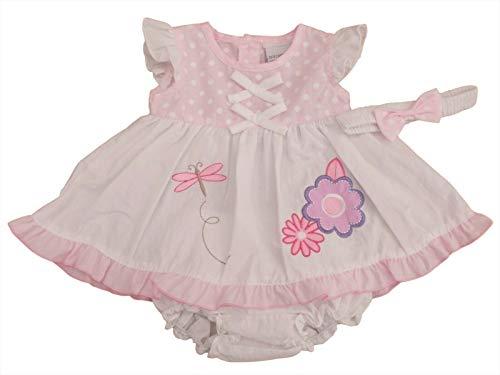 Nursery Time Avec étiquettes. Robe d'été pour bébé fille avec culotte et bandeau - Rose - 4-6 ans
