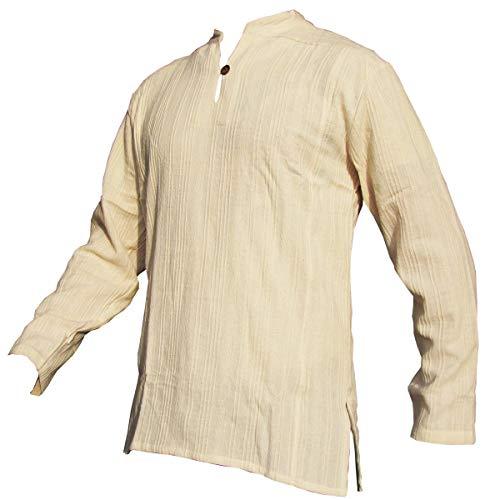 Fisherman Shirt BEN,beige, L, longsleeve