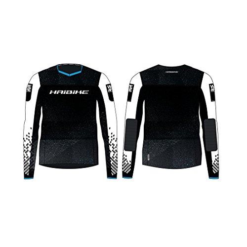 HAIBIKE Freeride T-Shirt à Manches Longues Unisexe, Noir/Blanc, XS