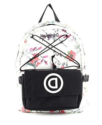 Desigual Double School Bag: Blanco