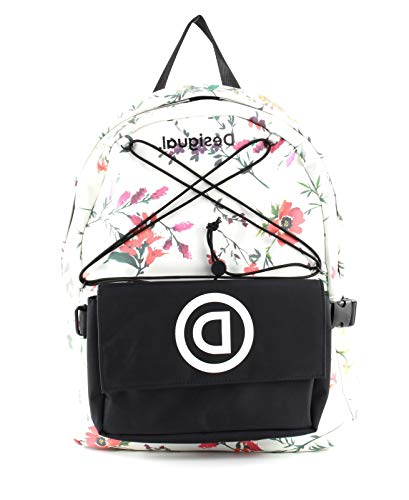 Desigual Double School Bag - Blanco
