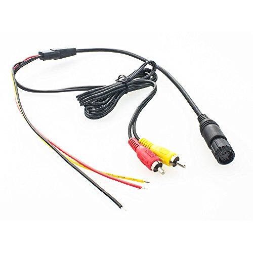 maxxcount Rückfahrkamera Anschlusskabel 6-polig (für Waeco/Dometic) auf Cinch/offene Enden