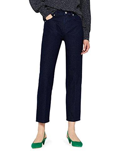Marchio Amazon - find. Jeans Dritti alla Caviglia Donna, Blu (Indigo), 30W / 32L, Label: 30W / 32L