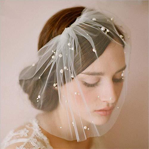 Velo de joyería con peine para novias, accesorios para el cabello de boda para mujeres, damas de honor, fiesta hecha a mano, regalos románticos finos para novias