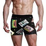 Jessgurl Audio Retro Cassette Tape S Calzoncillos Boxer para Hombre All Day Comfort Double Dry