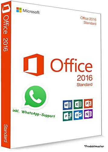 MS Office 2016 Standard LIZENZ KEY - POSTBRIEF-VERSAND - 32 / 64 Bit - 1 Aktivierung / 1 PC + Anleitung von U-S-B Unleashed-Shop-Bolt®