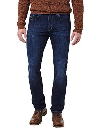 Pioneer Herren Rando Straight Jeans, Blau (Dark Used with Buffies 445), W44/L30