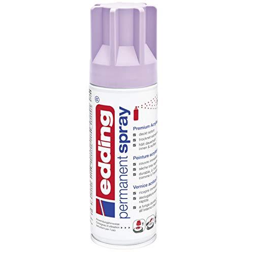 edding 5200 Permanent-Spray - lavendel matt - 200 ml - Acryllack zum Lackieren und Dekorieren von Glas, Metall, Holz, Keramik, lackierb. Kunststoff, Leinwand, u. v. m. - Sprühfarbe