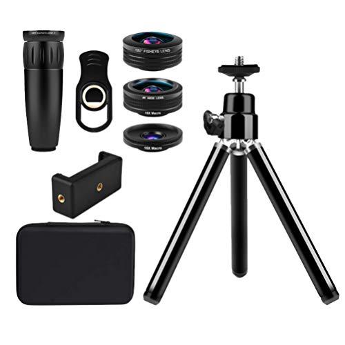 ULTECHNOVO Telefone Celular Lente Da Câmera Com Tripé Grande Angular Macro Lente Olho de Peixe para Smartphones