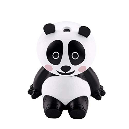 Xuways 120ml Aromatherapy Essential Oil Diffuser Panda Shape Ultrasonic Diffuser Cool Mist Humidifier with 3 Working Models for Home Office Bedroom Room Car Kids