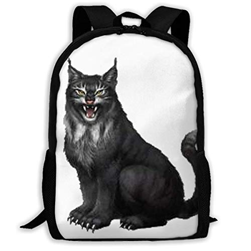 XCNGG Terror Lynx Printed Travel Backpack,Waterproof Lightweight Laptopbag Have Two Side Pockets