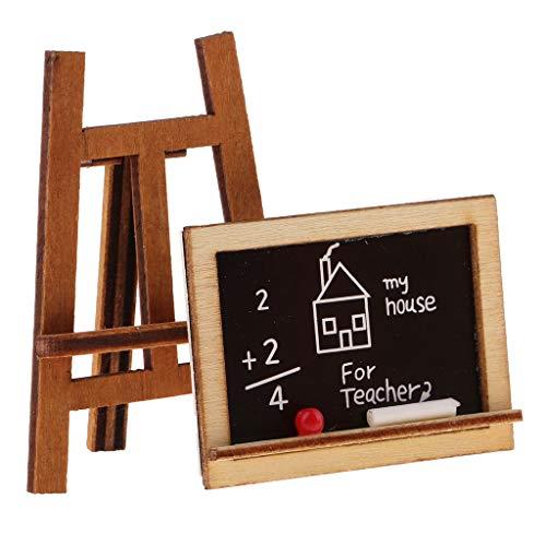 B Blesiya 1:12 Puppenstube Mini Tafel Mit Stand Dollhouse Klassenzimmer Zubehör