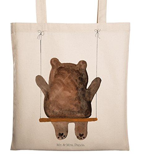 Mr. & Mrs. Panda Beutel, Einkaufstasche, Tragetasche Bär Schaukel - Farbe Transparent