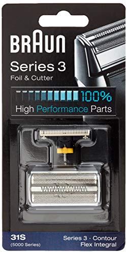 Braun Pièce De Rechange 31S Argentée Pour Rasoir - Compatible avec les rasoirs Series 3