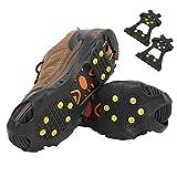 Clavos antideslizantes para zapatos, fáciles de instalar Crampones para escalada en nieve Portátiles para senderismo para actividades de montañismo(L)