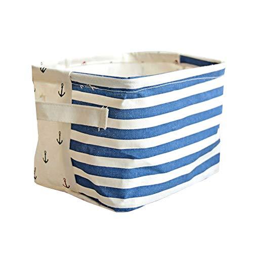 pinghub Cesta de almacenaje cestas de almacenaje Decorativas Plaza de cestas de Almacenamiento de Cuarto de baño de cestas de Almacenamiento de 1