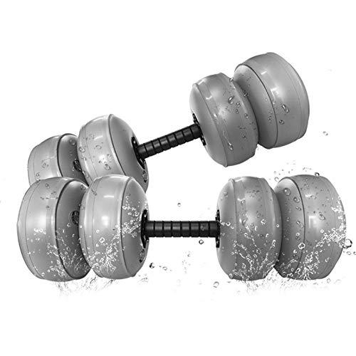 SHARRA Wassergefüllte Hanteln, 2er Verstellbare Hanteln Set Tragbare Weiche Reisehanteln Fitness für Männer und Frauen, Kurzhanteln Hanteln Gewichte für Heim Gymnastik Fitness Training