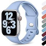 Upeak Compatibile con Cinturino Apple Watch 38mm 40mm 42mm 44mm, Cinturino Sportivo in Morbido Silicone Compatibile con iWatch Series SE 6 5 4 3 2 1, 38mm/40mm-S/M, Lilla