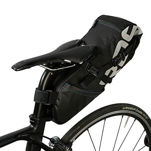 Bolsa Sillin Bicicleta Tija de sillín de la bicicleta bolsa de montar de la bici del almacenaje del asiento Pannier de ciclo del camino de MTB paquete trasero estanco extensible 8L 10L Bolsas Para Sil