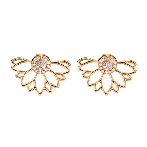 Eleusine Spalking Crystal Jacket Flower Ohrstecker Schmuck Doppelseitig plattierte Ohrringe