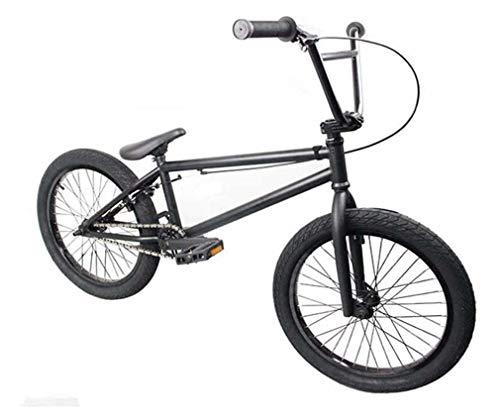 GASLIKE Bicicletas BMX de 20 Pulgadas Estilo Libre para Principiantes y avanzados, Cuadro de Acero de Alto Carbono, Engranaje BMX 25X9T, con Freno Tipo U,Negro