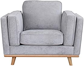 Homes r us POLO Collection 1-Seater Sofa, Grey - 117 x 95 x 85 cms